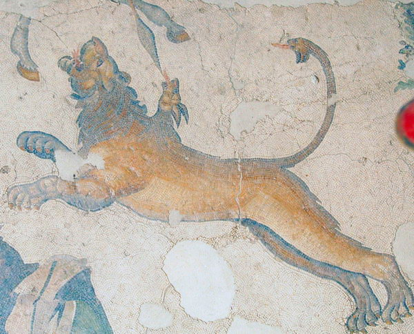Constantinople, Imperial Palace, Mosaic of a chimaera