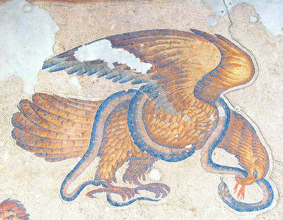 Constantinople, imperial palace, eagle and snake