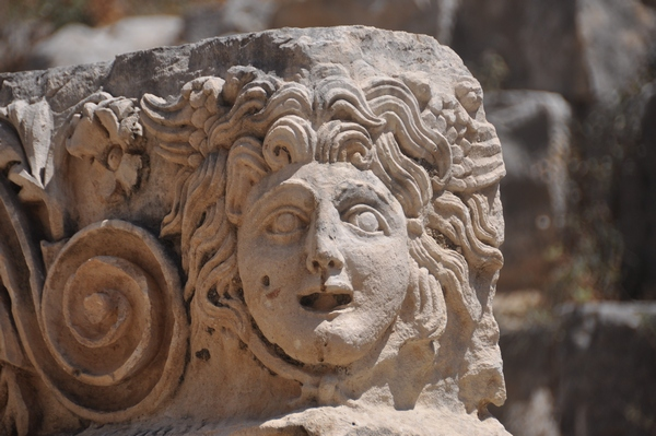 Myra, theater, decoration, face of Hermes