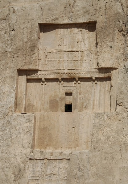 The tomb of Darius the Great (with a Sasanian relief of Bahram II)