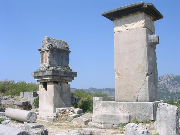 Xanthus, Agora, Harpy tomb and Lycian tomb