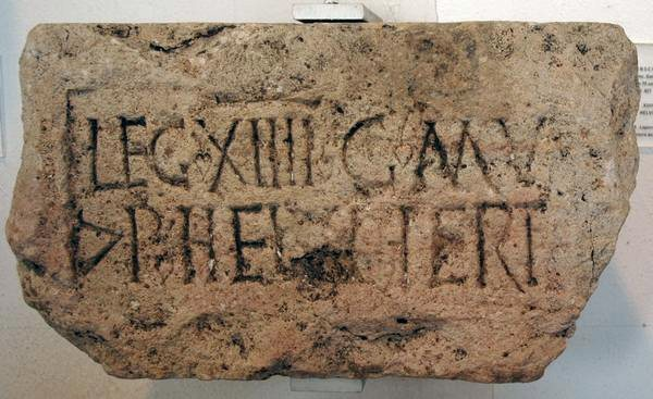 Mainz, Inscription of XIIII Gemina