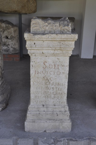 Aquincum, Dedication to Sol Invictus by soldiers of II Adiutrix