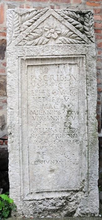 Oescus, Tombstone of P. Scribonus of V Macedonica