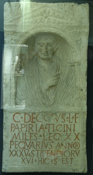 Cologne, Tombstone of a soldier of XX Valeria Victrix