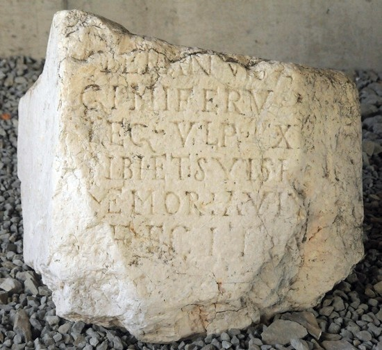 Stara Zagora, Inscription mentioning XXX Ulpia Victrix