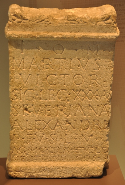 Dedication to Jupiter by a soldier of XXX Ulpia Victrix