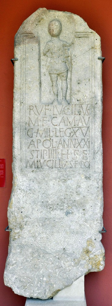 Tombstone of Lucilius of XV Apollinaris
