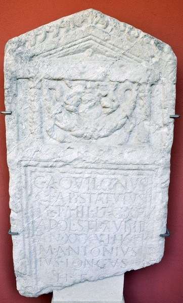 Tombstone of Statutus of XV Apollinaris