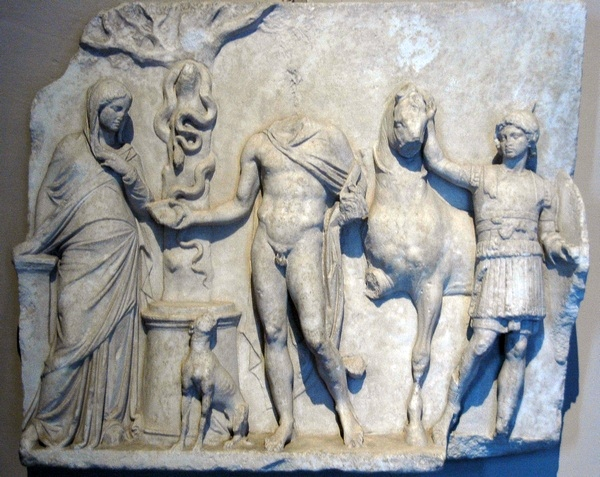 Relief of a hero