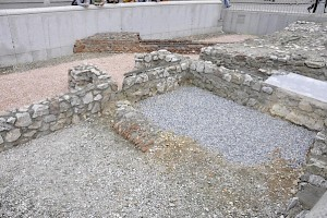 Vienna, ancient remains at the Michaelerplatz (in front of the Hofburg)