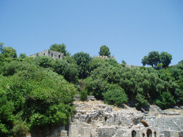 Buthrotum, Acropolis, site of the original Greek settlement