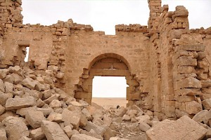 Qasr Bshir, gate, seen from the inside