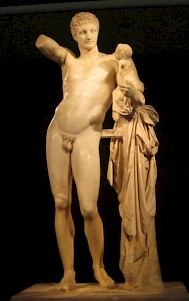 "Praxiteles' statue of Hermes and the Infant Dionysus. ""Hermeneutics"" is called after Hermes, the messenger of the gods."