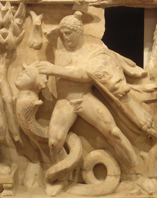 Perge, Heracles sarcophagi 02: Heracles and the Hydra