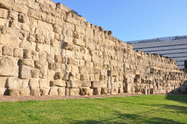 The Servian Wall near Rome's central station.