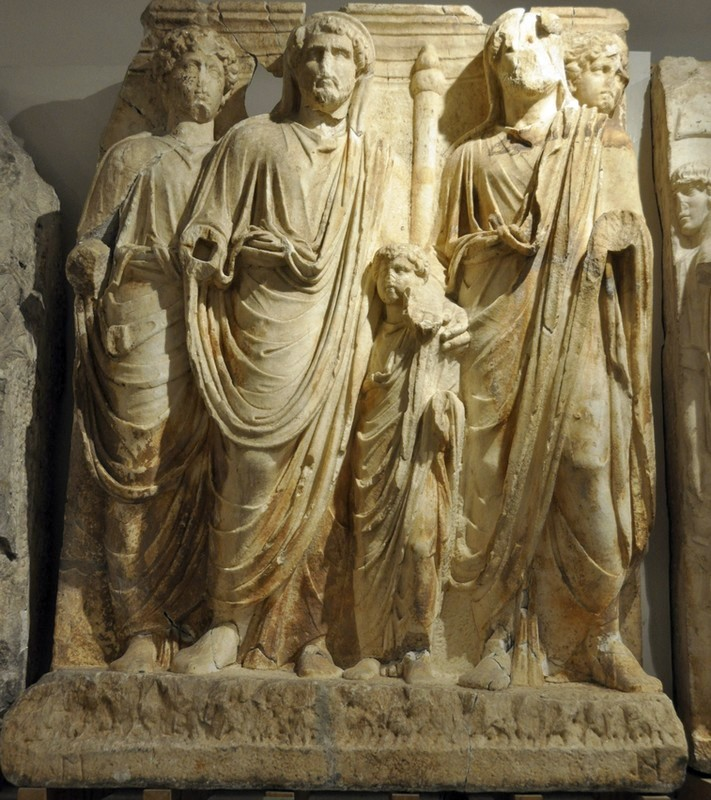 Ephesus, Parthian Monument, Adoption of Marcus Aurelius