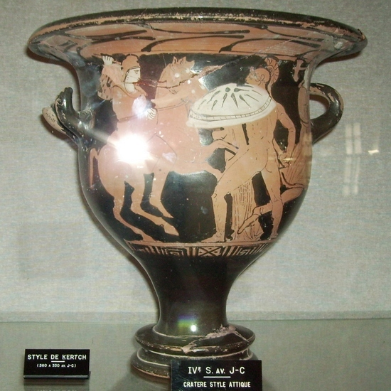 Ensérune, Attic krater with amazonomachy