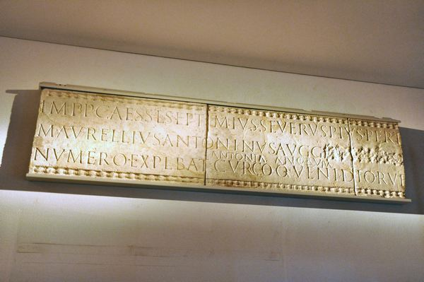 Inscription by a unit of scouts, with a damnatio memoriae