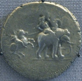 Macedonian cavalry attacking an Indian elephant