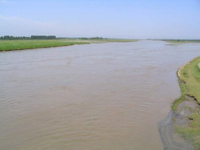 The Kabul river near Peshawar