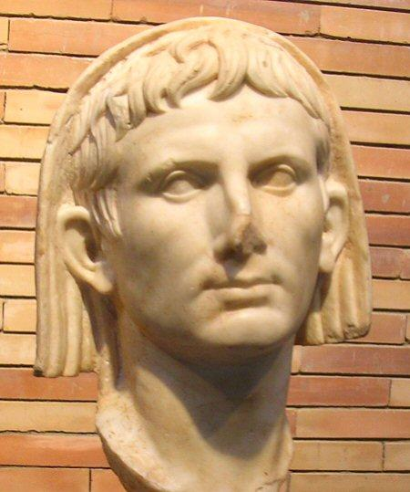 Portrait of Augustus as pontifex maximus