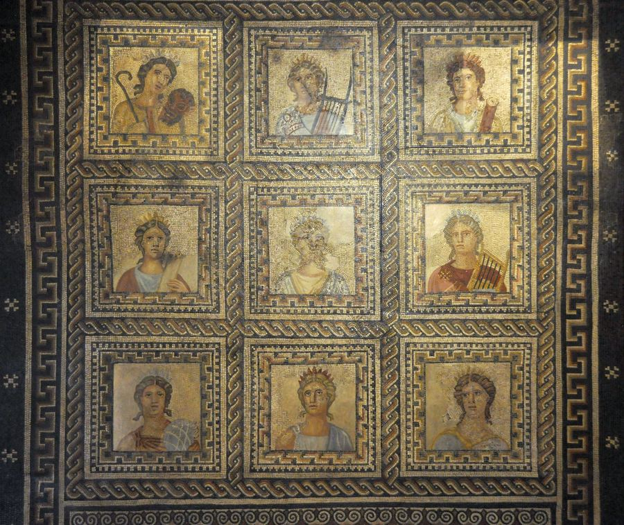 Trier, Large Mosaic of the Nine Muses