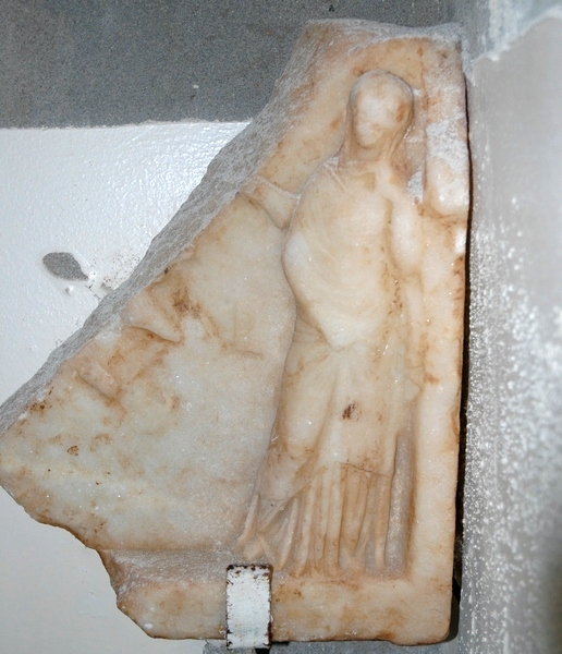 Taucheira, marble relief of a woman