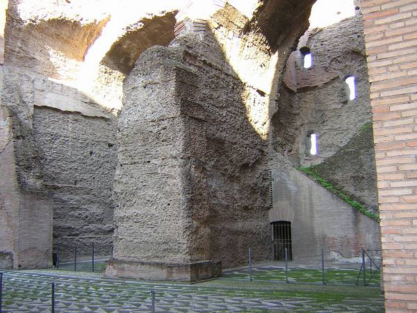 Baths of Caracalla, vaults and staircase