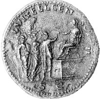 Coin of Lucius Vitellius as censor