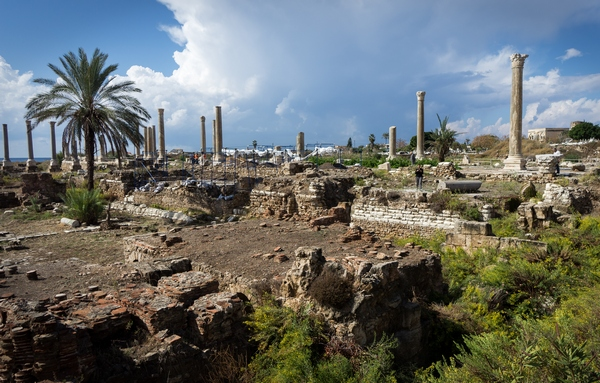 Tyre, city, Baths (from NE)