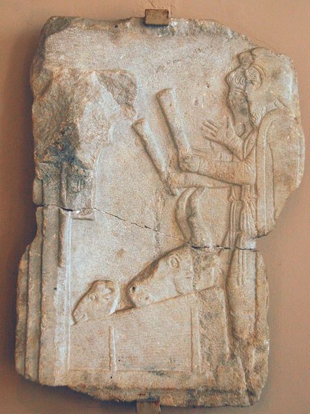 Dascylium, Relief of two Magians sacrificing a sheep and a bull
