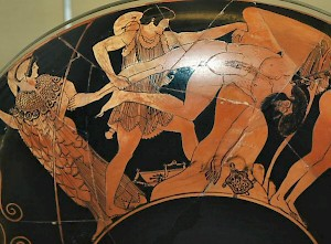 Theseus kills Skiron