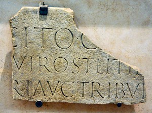 The tombstone of Tacitus