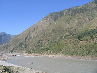 The Indus and the Aornus from the southeast