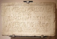 Tombstone of a lictor named Marcus Vergilius.