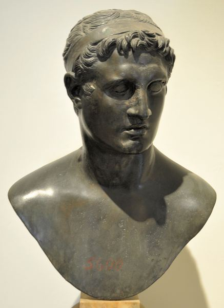 Ptolemy II Philadelphus. Bust from the Villa of the Papyri, Herculaneum
