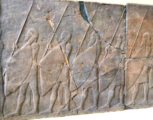 Nineveh, Palace of Senacherib, Assyrian soldiers
