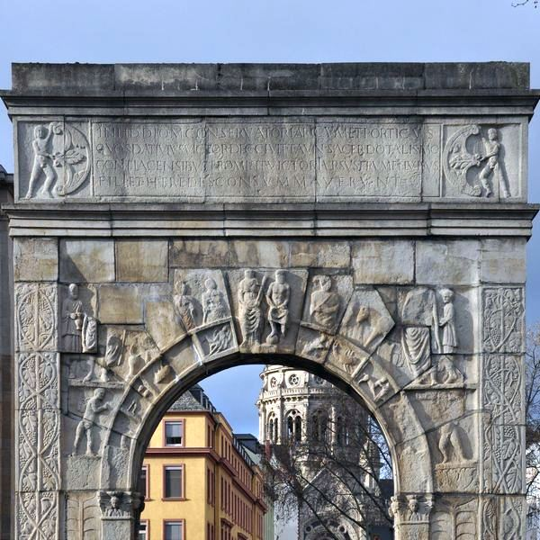 Mainz, Arch of Dativius Victor, Reconstruction, Zodiac