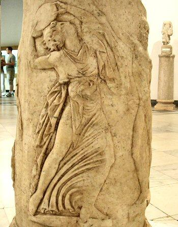 Italica, Theater relief: Dancing maenad (1)