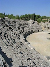 Seats in the amphitheater