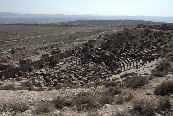 Cyrrhus, theater, from N