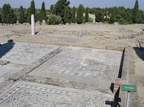 Italica, House of the Neptune Mosaic, general view