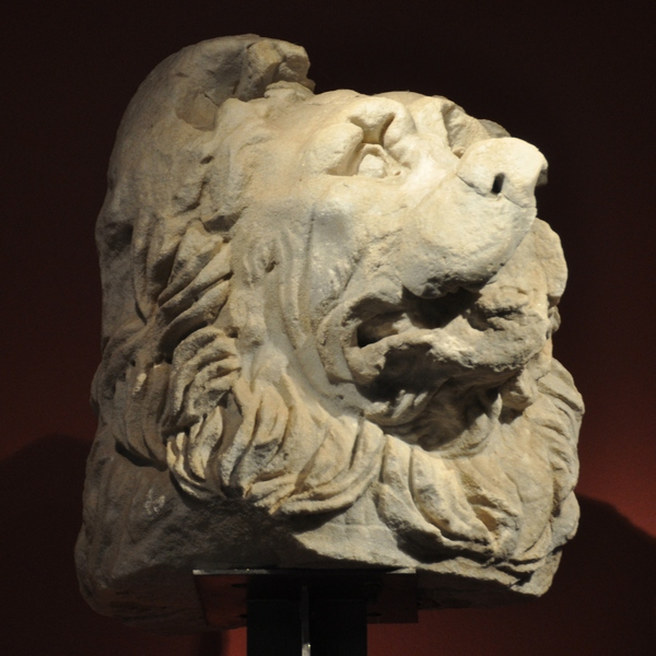 Limyra, Ptolemaion, lion, head