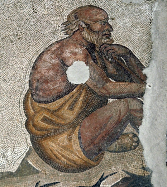 Constantinople, imperial palace, old man
