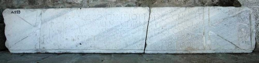 Dedication by the First Pontic Legion to Diocletian and his fellow emperors