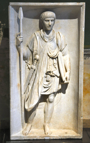 Soldier of the praetorian guard. Relief from Puteoli.