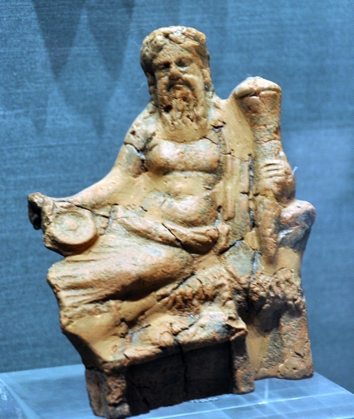 Halos, Figurine of a seated banqueter