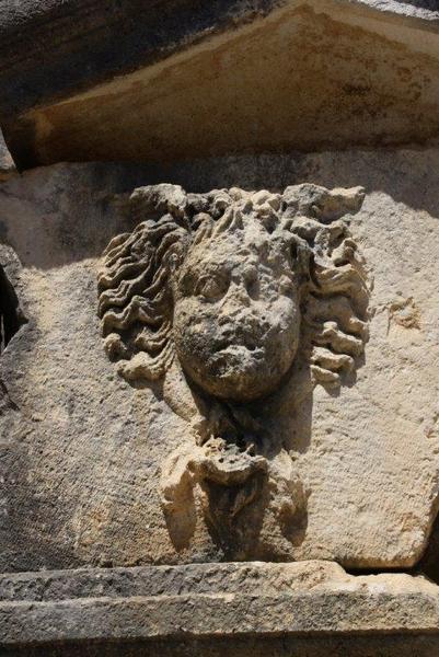 Arykanda, necropolis, tomb, detail - Livius