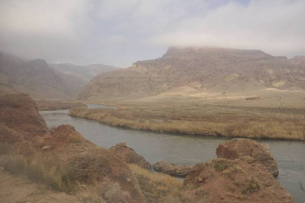 The Araxes near Jolfa (the border of Iran and Nakhchivan)